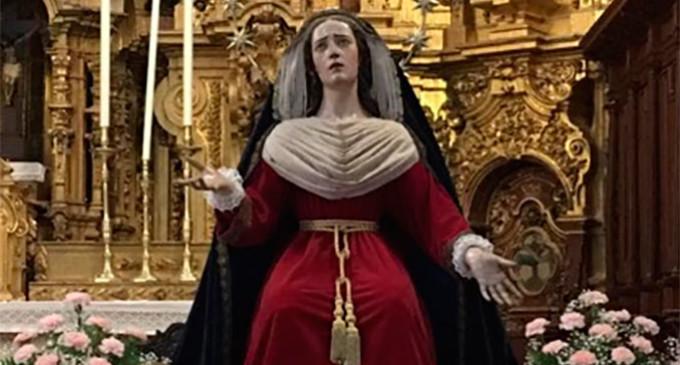 Procesión de traslado, Cultos a María Santísima del Mayor Dolor y V Exaltación a la Vera + Cruz en la Parroquia de San Francisco de Écija