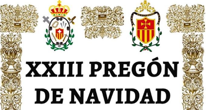 Javier Madero pregona hoy el Pregón de la Navidad de Écija 2019