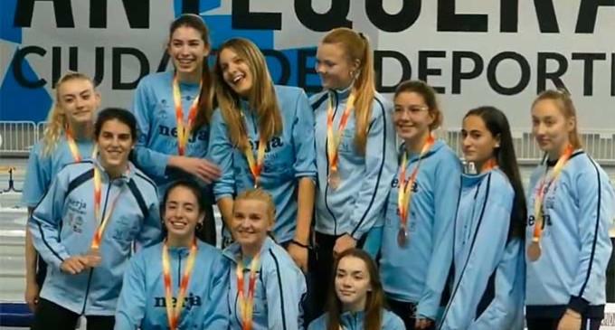 """Tres atletas ecijanas disputaron el """"Campeonato de España de Clubes Sub20″ en pista cubierta (videos)"""