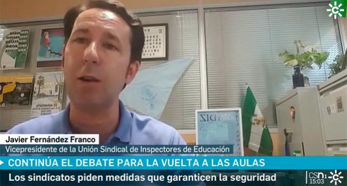 El ecijano Francisco J. Fernández Franco, representante de la Unión Sindical de Inspectores de Educación, ha pedido un acuerdo responsable para una educación presencial con medidas de seguridad (video)