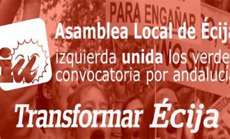 La Asamblea de IU de Écija prorroga el mandato de su coordinadora local.
