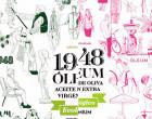 Ramón J. Freire Santa Cruz diseña una artística etiqueta ecijana para 1948 Óleum AOVE Ecológico
