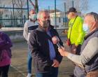 El portavoz municipal de IU Eligio García, realiza una visita institucional a la Barriada de la Paz de Écija