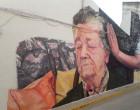 El arte urbano de la artista de Écija, Virginia Bersabé, en un mural de Villanueva de San Juan