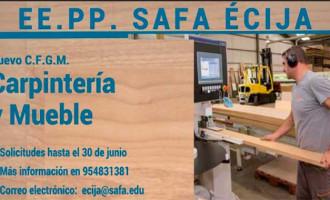 Las Escuelas Profesionales SA.FA. de Écija tendrá para el próximo curso un nuevo Ciclo Formativo de Carpintería y Mueble