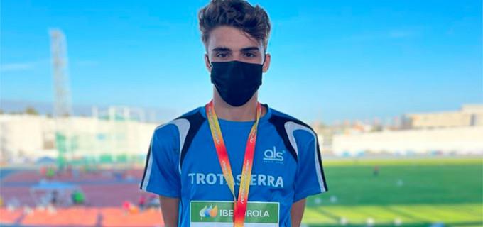 El atleta de Écija, Alejandro Garcia Angelina, se proclama Subcampeón de España Sub 18 en 100 metros lisos