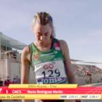 La atleta de Écija, Rocío Rodríguez, Subcampeona de España en 800 metros Sub 20 (video carrera)