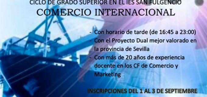El I.E.S. San Fulgencio de Écija, oferta por segundo año consecutivo el Ciclo Superior de Comercio Internacional
